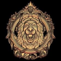 Télécharger plan imprimante 3D gatuit cadre circulaire lion, 3DPrinterFiles