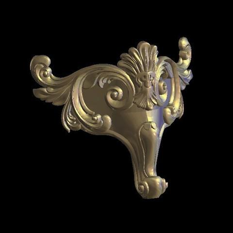 Télécharger fichier imprimante 3D gratuit meuble pied renaissance décoration gothique renaissance, 3DPrinterFiles