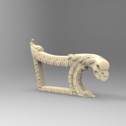 Descargar archivos 3D gratis sillon sillon muebles de arte renacentista, 3DPrinterFiles