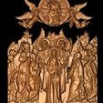 Download free STL file Jesus angels and saints, 3DPrinterFiles