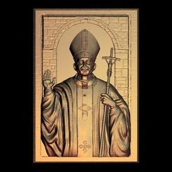 Impresiones 3D gratis papa religioso cristiano, 3DPrinterFiles