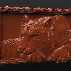 Free 3D print files tiger frame, 3DPrinterFiles