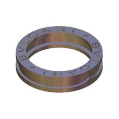 Descargar modelo 3D gratis anillo bvlgari bulgari, 3DPrinterFiles