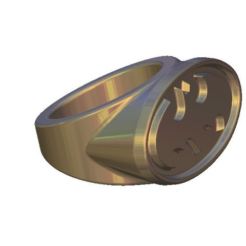 101.jpg Download free STL file Batman ring vintage old logo • 3D printing object, 3DPrinterFiles