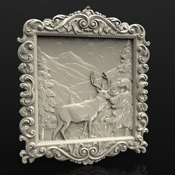 Download free 3D printing templates deer in the forrest cnc router, 3DPrinterFiles