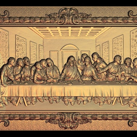Download free 3D model The last Supper La Cène de vinci, 3DPrinterFiles