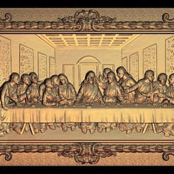 21.jpg Download free STL file The last Supper La Cène de vinci • 3D printable design, 3DPrinterFiles