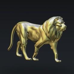 Descargar archivo 3D gratis piel joven león, 3DPrinterFiles