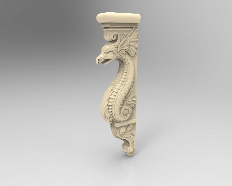 Screenshot_142.png Download free STL file Dragon decoration art home • 3D print object, 3DPrinterFiles
