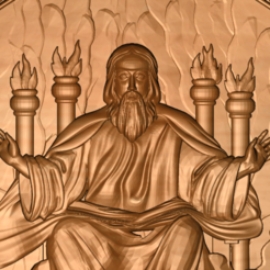 Download free 3D printing files God in heaven or hell, 3DPrinterFiles