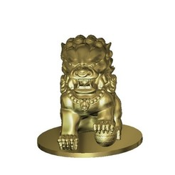 Download free 3D print files chinese art lion agressive temple, 3DPrinterFiles