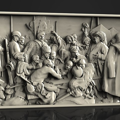 Free 3D print files kazakes feast drinking cnc art, 3DPrinterFiles