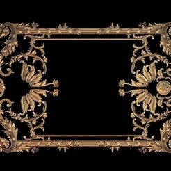 Download free STL medieval renaissance frame decoration moulure, 3DPrinterFiles