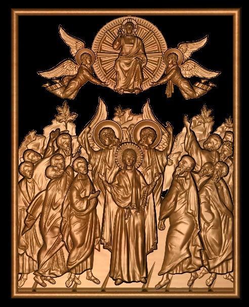 1.jpg Télécharger fichier STL gratuit Jésus anges et saints • Plan imprimable en 3D, 3DPrinterFiles