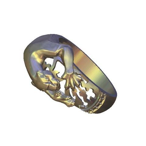Download free STL tiger attack ring, 3DPrinterFiles