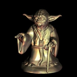 Free 3D printer files Master Yoda from Star Wars, 3DPrinterFiles