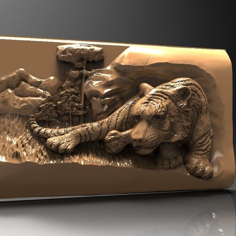 Free 3D printer designs sleeping tiger cnc router, 3DPrinterFiles