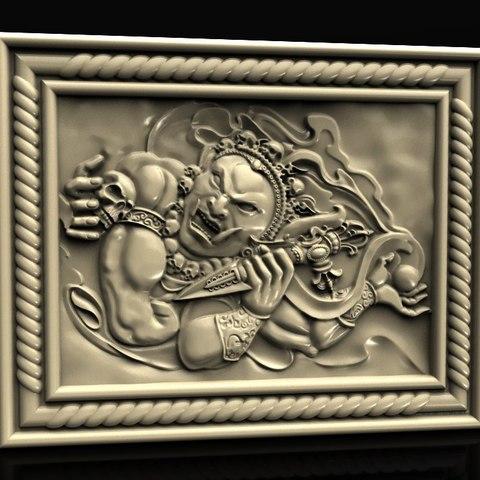 Télécharger fichier 3D gratuit Dieu du diable avec routeur crâne cnc art cnc, 3DPrinterFiles