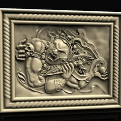 Download free 3D printer designs Devil god with skull cnc art router, 3DPrinterFiles