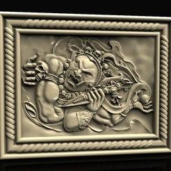 Descargar archivo 3D gratis Diablo dios con cráneo cnc art router, 3DPrinterFiles