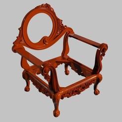 Descargar archivos STL gratis Sillón completo asombroso sillón renacentista versailles france, 3DPrinterFiles