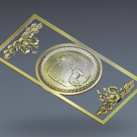 Download free 3D printing models wolf moon wall hanger, 3DPrinterFiles