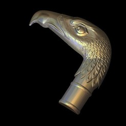 Download free 3D print files vulture cane handle, 3DPrinterFiles