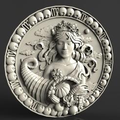 Descargar archivos 3D gratis maravillosa mujer cnc art fruit, 3DPrinterFiles