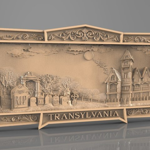 Download free 3D print files Drakula transilvania art cnc router, 3DPrinterFiles