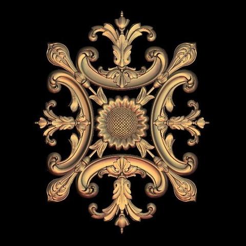 Télécharger fichier impression 3D gratuit cadre décoratif gothique de la renaissance, 3DPrinterFiles