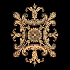Download free 3D printing designs gothic renaissance decoration frame, 3DPrinterFiles