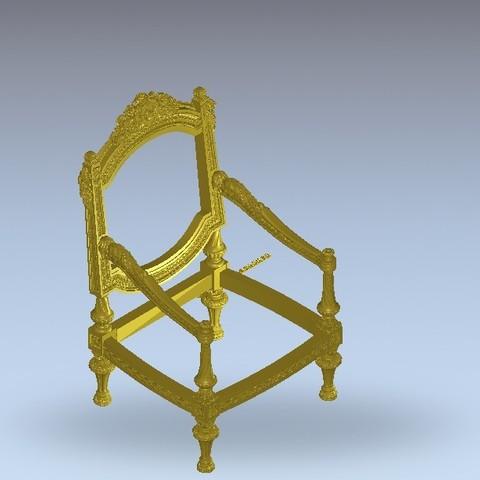 003.jpg Télécharger fichier STL gratuit chaise renaissance • Plan pour imprimante 3D, 3DPrinterFiles