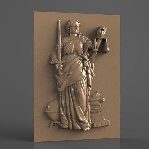 Download free 3D print files blind justice metaphore metaphoric cnc art, 3DPrinterFiles