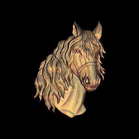 Imprimir en 3D gratis medalla busto de caballo, 3DPrinterFiles
