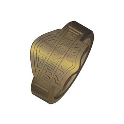Free STL file Harley davidson ring, 3DPrinterFiles