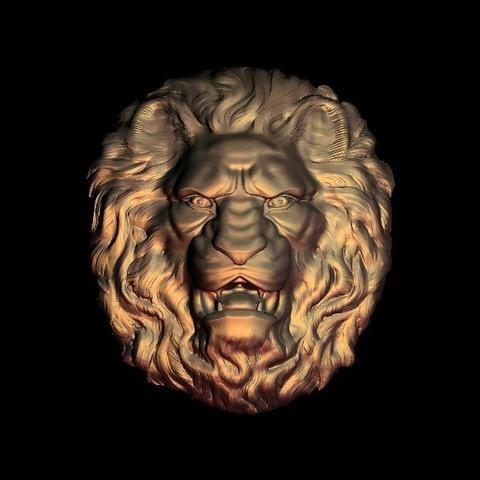 Impresiones 3D gratis cara de león feroz, 3DPrinterFiles