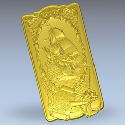 Télécharger fichier 3D gratuit bateau pirate bateau art cadre de bateau, 3DPrinterFiles
