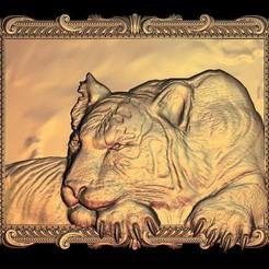 Descargar archivos STL gratis Calma marco de tigre, 3DPrinterFiles