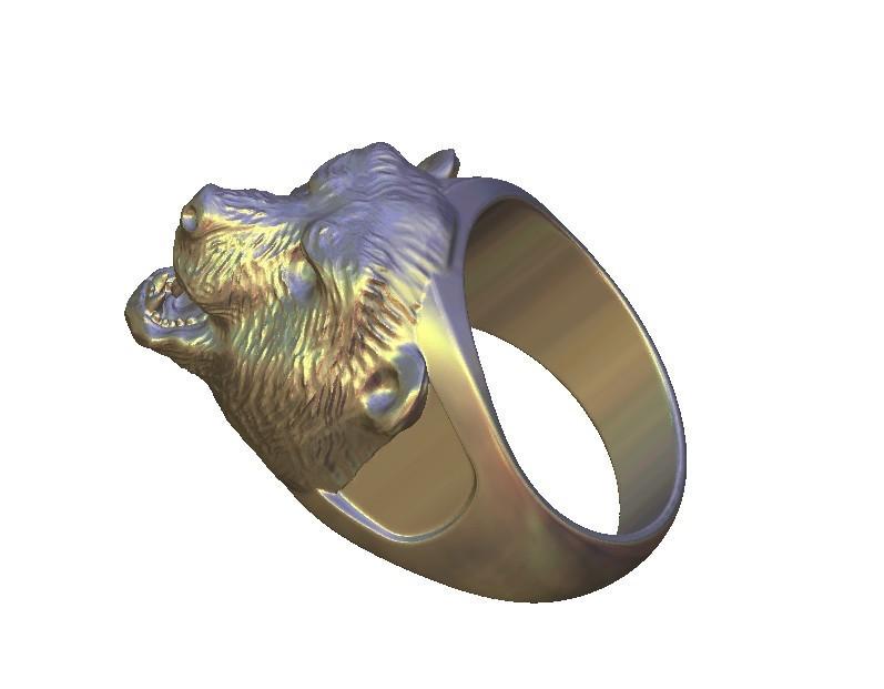 42.jpg Télécharger fichier STL gratuit bague agressive en forme d'ours • Objet pour imprimante 3D, 3DPrinterFiles
