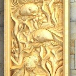 Descargar archivos STL gratis pared arte moderno decoración peces, 3DPrinterFiles