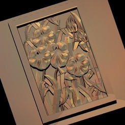 38.jpg Télécharger fichier STL gratuit fleurs art moderne décoration d'encadrement moderne • Objet pour impression 3D, 3DPrinterFiles