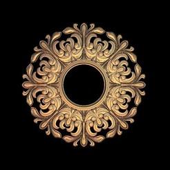 Descargar archivos STL gratis marco de arte sol circular, 3DPrinterFiles