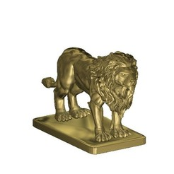 Download free 3D printing models magnificent lion sculpture, 3DPrinterFiles