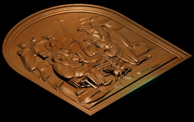 1_1.png Télécharger fichier STL gratuit Naissance de Jésus avec Marie et Joseph • Objet imprimable en 3D, 3DPrinterFiles
