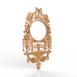 Download free 3D printing templates Mirror decoration renaissance art, 3DPrinterFiles