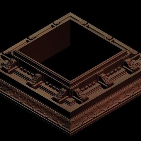 Télécharger plan imprimante 3D gatuit support renaissance moulure art frame, 3DPrinterFiles