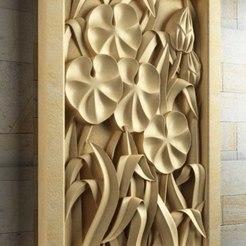 Descargar Modelos 3D para imprimir gratis flores arte marco decoracion moderna, 3DPrinterFiles