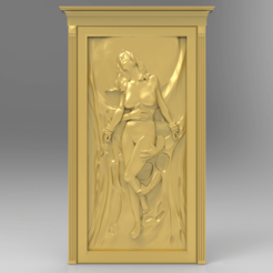 Free 3D printer designs sexy naked girl wall hanger, 3DPrinterFiles