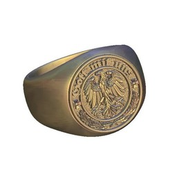 Download free 3D printer model german eagle ring, 3DPrinterFiles