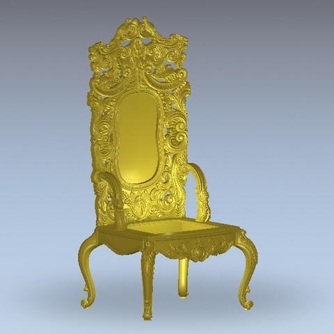 Free STL files renaissance chair, 3DPrinterFiles